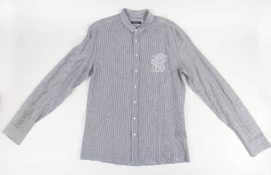 Balmain Navy Striped Button Down Casual Shirt Size 15.5 US 39 EU Size US XXS / EU 40