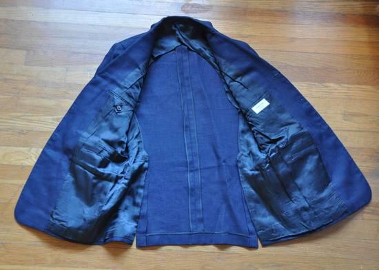 Thom Browne Navy Linen Blazer Size 40R - 3