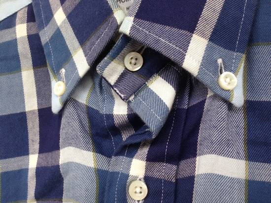 Thom Browne THOM BROWNE Blue Plaid Buttondown Size US S / EU 44-46 / 1 - 4