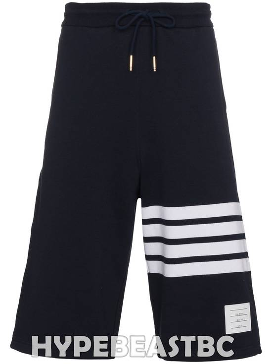 Thom Browne THOM BROWNE Classic Sweat Shorts 4-Bar Stripe Logo, TB Size 2, Navy, NWT, NO DROP ! Size US 32 / EU 48 - 2