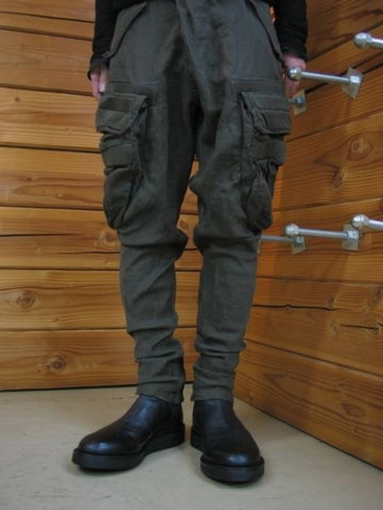 Julius Green Linen Blend Gas Mask Cargo Pants Size US 30 / EU 46 - 11