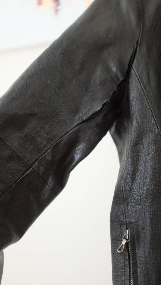 Julius 7 Goat High Neck Leather Jacket Size US S / EU 44-46 / 1 - 3