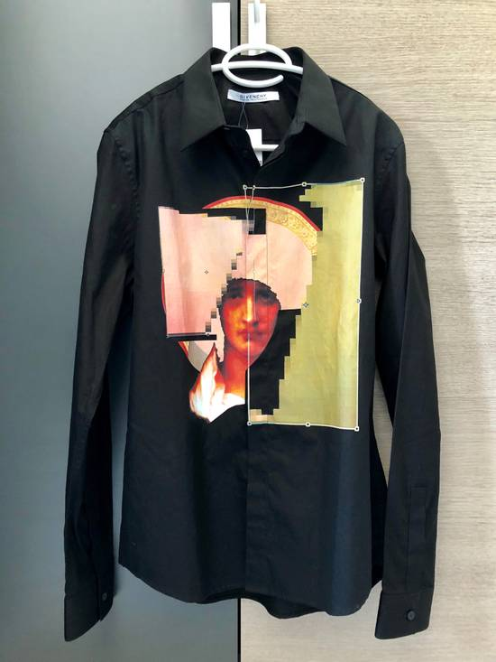 Givenchy Givenchy Black Abstract Madonna Print Shirt Size US M / EU 48-50 / 2