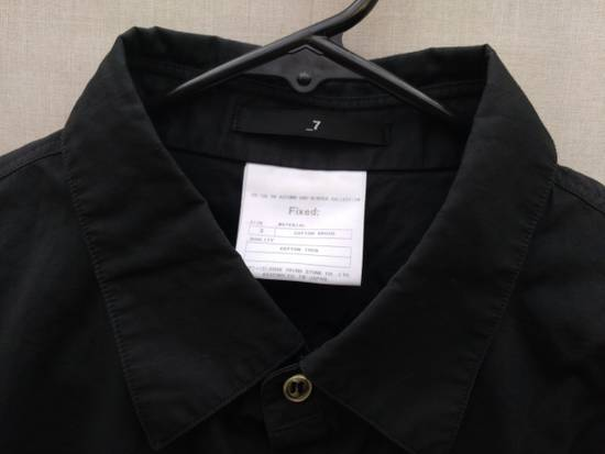Julius Black Hidden Placket Shirt Size US L / EU 52-54 / 3 - 3