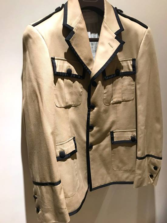 Thom Browne GROSGRAIN TRIMMED BEIGE MILITARY OFFICER JACKET Size 48R - 2