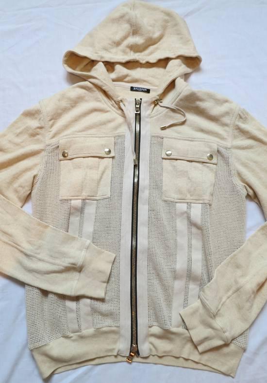 Balmain Zipped Up Cotton/Linen Hoodie Size US XL / EU 56 / 4 - 1