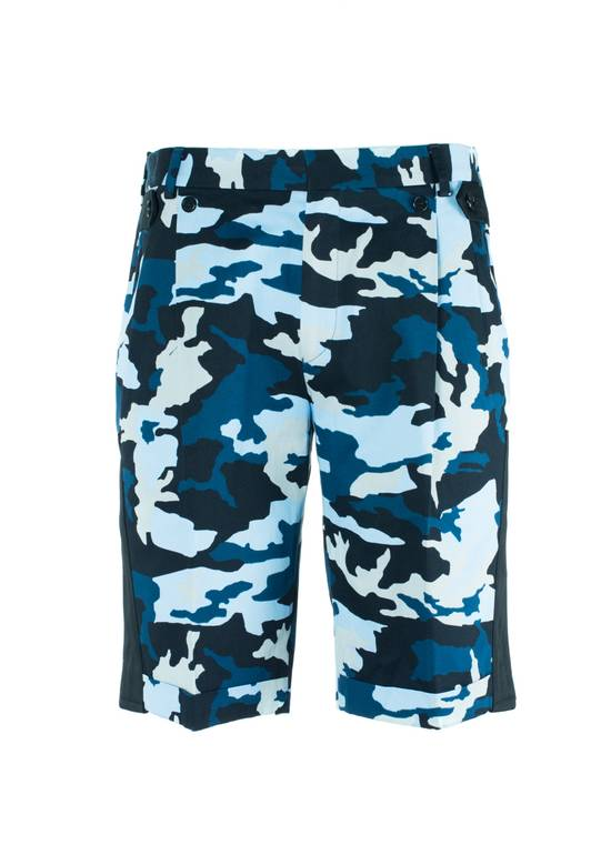 Givenchy Givenchy Men's Blue Cotton Camouflage Board Shorts Size US 32 / EU 48