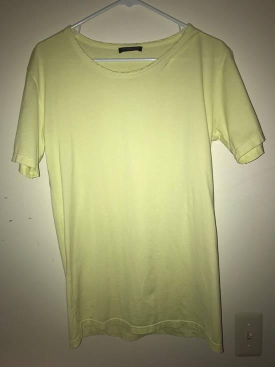 Balmain Balmain Lime Green Distress Tee Size US M / EU 48-50 / 2