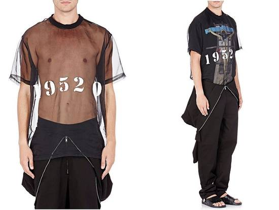 Givenchy Givenchy 19520 Jesus Silk Organza Sheer Madonna Oversized T-shirt size XS (L) Size US XS / EU 42 / 0 - 5