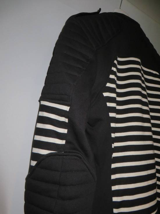 Balmain Stripped cotton biker jacket Size US XXL / EU 58 / 5 - 10