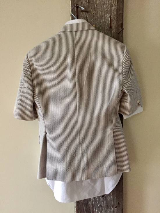 Thom Browne Striped Short Sleeve Short Suit w/ Shirt Size 36S - 1
