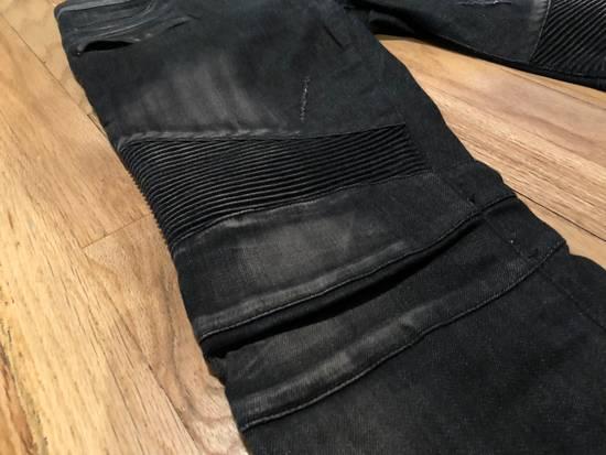 Balmain Balmain Biker Jeans Dark Grey Distressed Size US 31 - 1