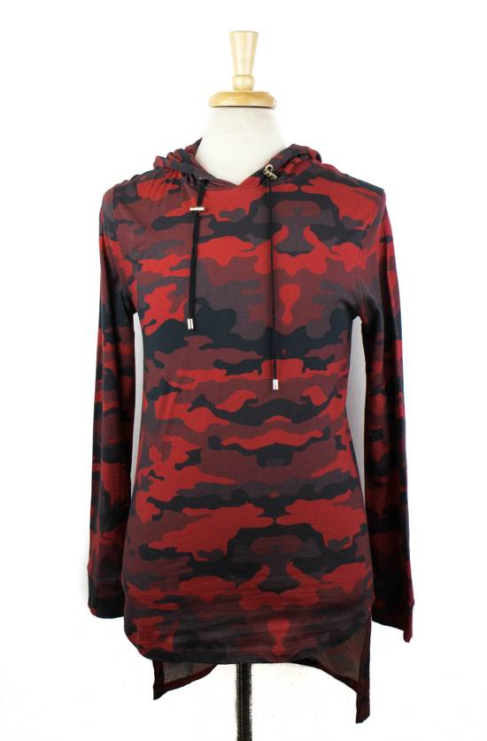 Balmain Red Camouflage Cotton Hoodie Sweatshirt Shirt Size Medium Size US M / EU 48-50 / 2