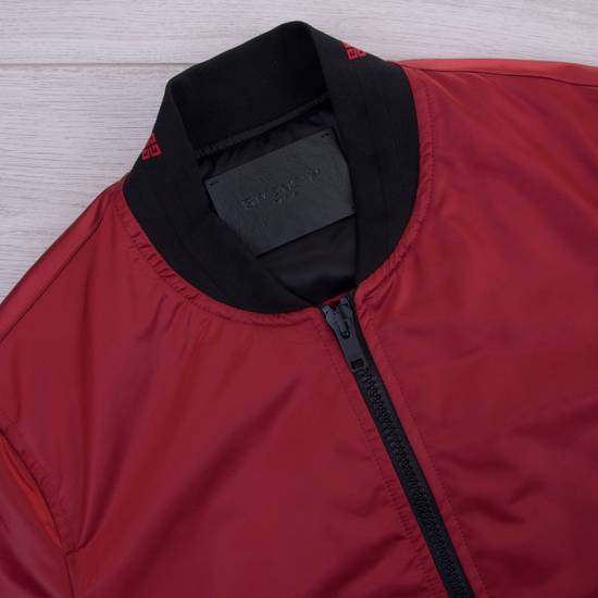 Givenchy Dark Red Nylon Givenchy Paris 4G Bomber Jacket Size US M / EU 48-50 / 2 - 8