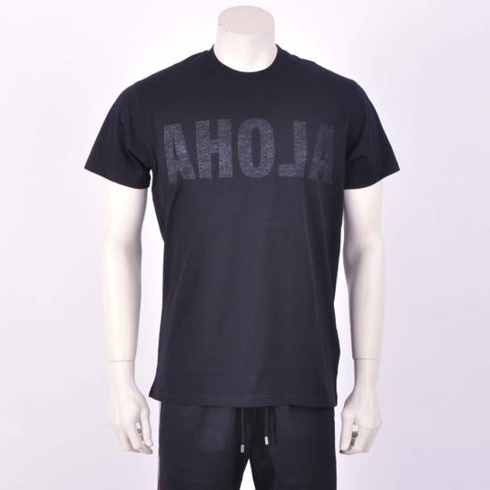Givenchy Black Cotton Reverse Inside-Out Aloha Print Crew Neck T-Shirt Size US XXS / EU 40