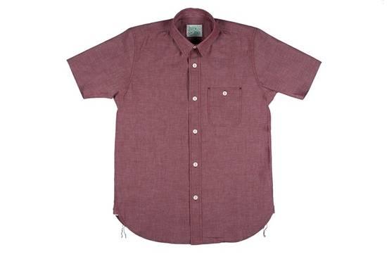 "Self Edge The Roy ""Big Bro"" Red Chambray Short Sleeve Shirt Size US XXL / EU 58 / 5"