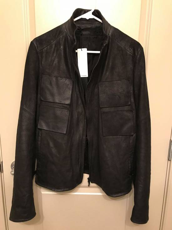 Julius julius_7 patchwork nubuck lambskin leather jacket Size US S / EU 44-46 / 1 - 1