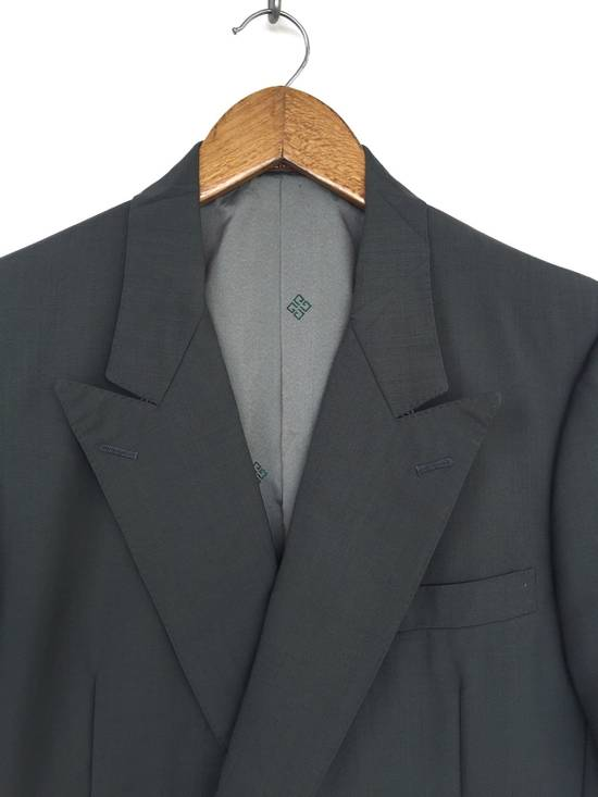 Givenchy 80s Green Wool Double Breast Blazer Coat Size 38S - 1