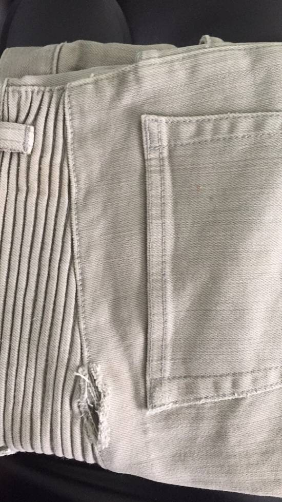 Balmain Balmain Grey Biker Jeans Size US 31 - 4