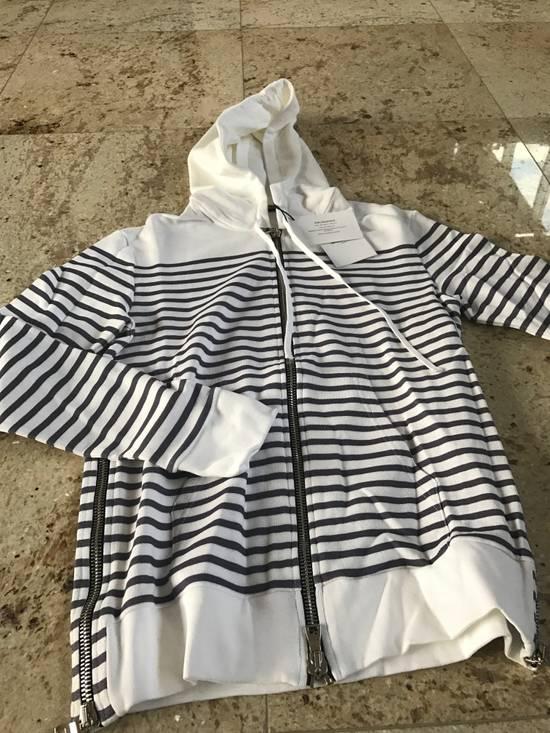 Balmain Stripe White & Grey Hoodie Size US S / EU 44-46 / 1 - 7