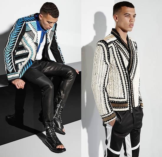 Balmain Balmain Men's Black Biker Style Nappa Leather Trousers Size US 32 / EU 48 - 7