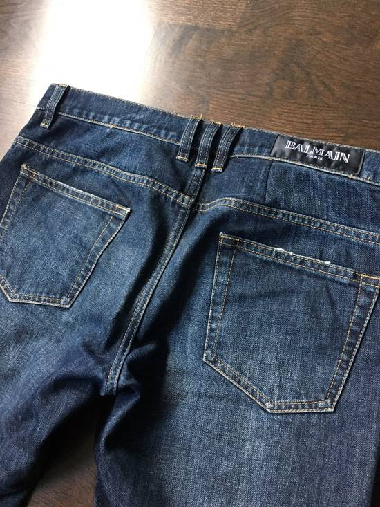 Balmain Blue Distressed Jean Size US 32 / EU 48 - 9