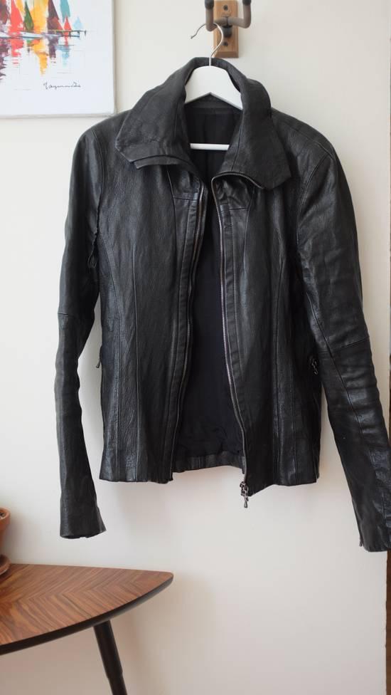 Julius 7 Goat High Neck Leather Jacket Size US S / EU 44-46 / 1 - 1
