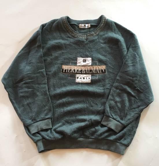 Balmain Final Drop Before Delete Vintage Pierre Balmain Spell Out Embroidery Sweatshirt Wool Size US M / EU 48-50 / 2
