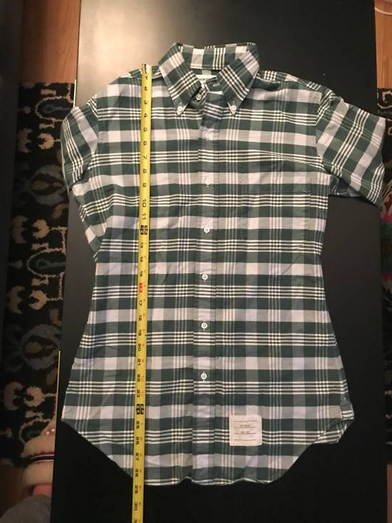 Thom Browne Long Sleeve Green Plaid Woven Shirt Size US XS / EU 42 / 0 - 3