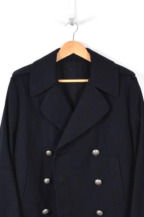 Balmain Cotton Gabardine Nappa Pea Coat Size US L / EU 52-54 / 3 - 1