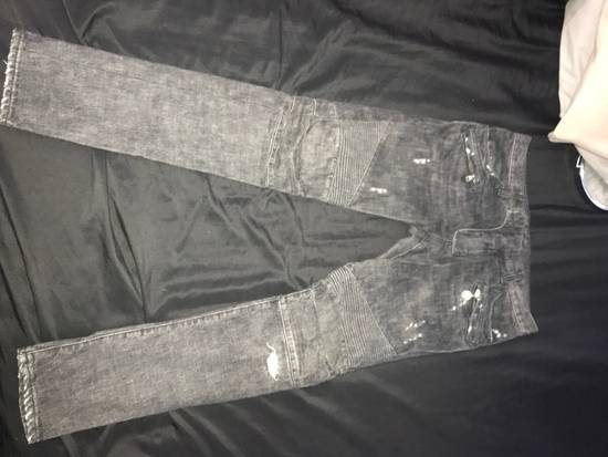 Balmain ICONIC Decarnin Balmain Skinny Biker Jeans Size US 31