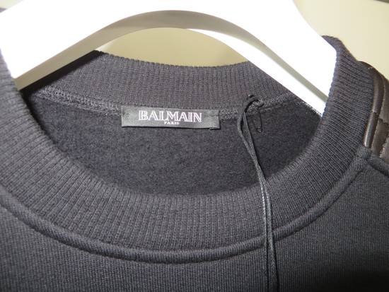 Balmain Quilted leather and cotton sweatshirt Size US XS / EU 42 / 0 - 2