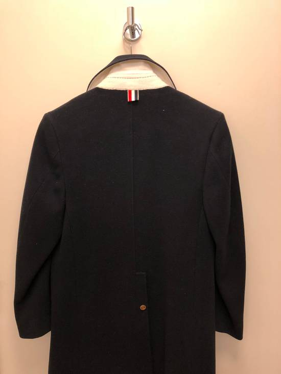 Thom Browne Navy melton wool double-breasted coat Size US XS / EU 42 / 0 - 4