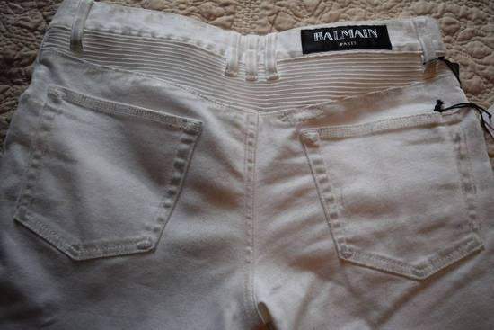 Balmain Balmain Authentic $1149 White Biker Jeans Size 31 Brand New With Tags Size US 31 - 6