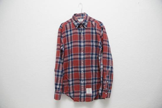Thom Browne Soft Checked Flannel Shirt Size US L / EU 52-54 / 3