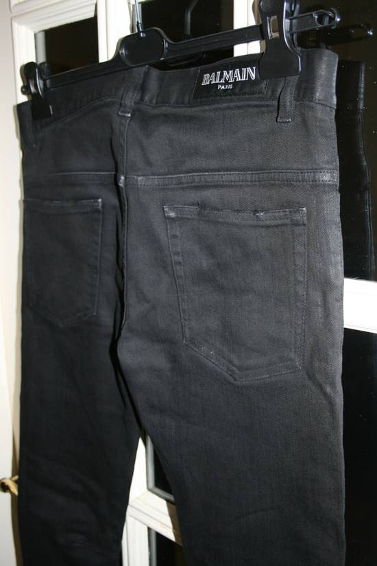 Balmain SS12 Black Waxed Jeans Size US 30 / EU 46 - 4