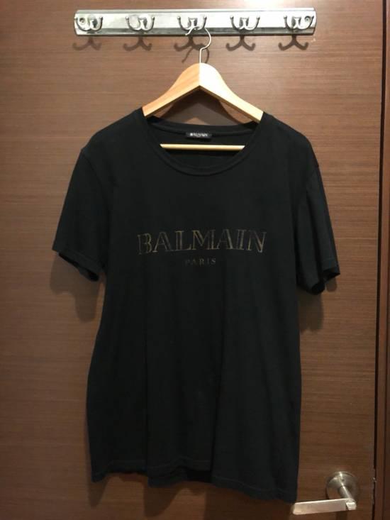 Balmain Gold Logo T Shirt Size US M / EU 48-50 / 2