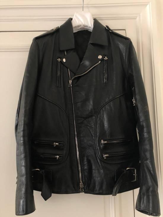 Balmain Black Horse Leather Double Rider Jacket Size US L / EU 52-54 / 3