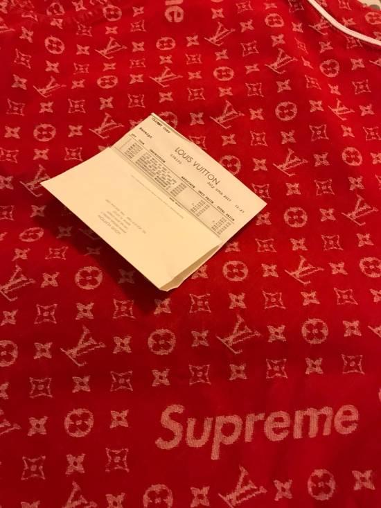 Supreme Louis Vuitton Supreme Red Denim Baseball Jersey Size US S / EU 44-46 / 1 - 8