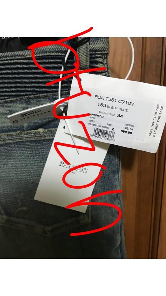 Balmain Distressed Slim Biker Jeans Size US 34 / EU 50 - 4