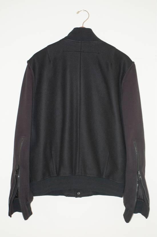 Givenchy Fw 11 Black Wool Blend Zip Sleeve Snap Baseball Bomber Jacket Size US L / EU 52-54 / 3 - 4