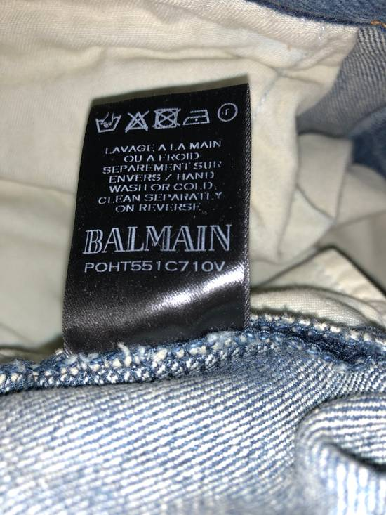 Balmain BALMAIN DENIM BIKER JEANS Size US 32 / EU 48 - 6