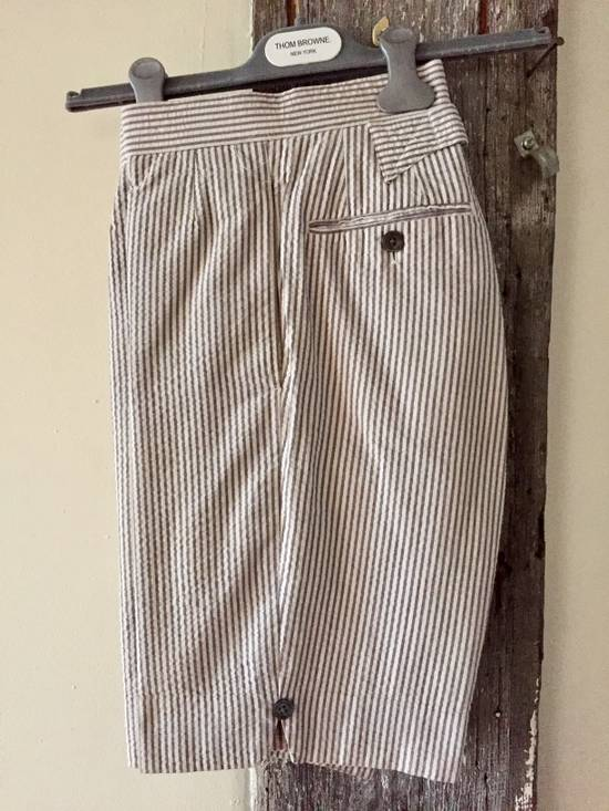 Thom Browne Striped Short Sleeve Short Suit w/ Shirt Size 36S - 4