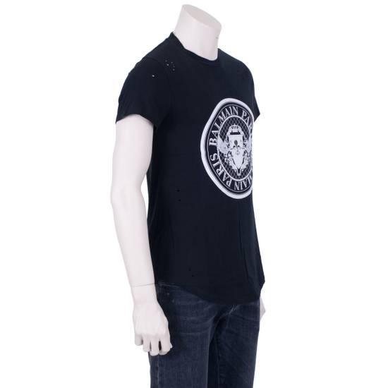 Balmain SS18 Black Cotton Balmain Velvet Logo Print Tshirt Size US S / EU 44-46 / 1 - 7