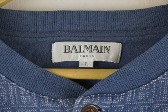 Balmain Vintage Balmain Monogram Blue Sweatshirt Size US L / EU 52-54 / 3 - 4