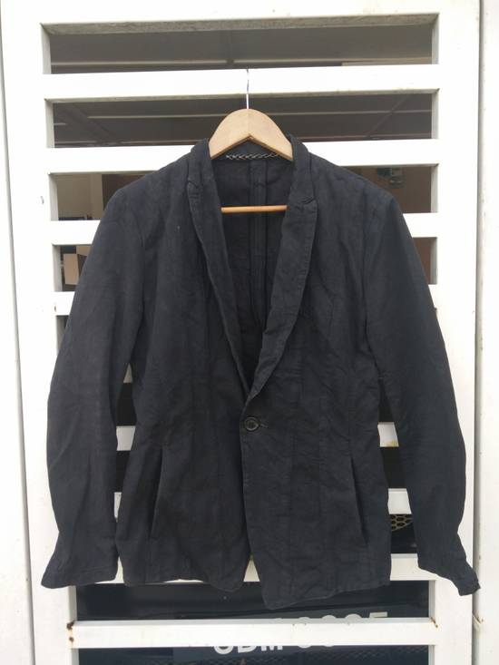 Julius Julius 2004 The Structure Black Cotton Coat Jacket Blazer Size US S / EU 44-46 / 1