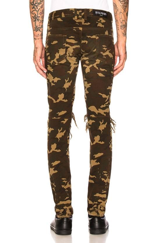 Balmain Size 36 - Heavily Distressed Camo Biker Jeans - FW17 - RARE Size US 36 / EU 52 - 21