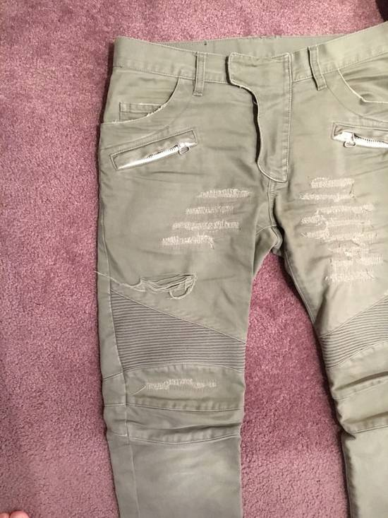 Balmain Distressed Olive Green Balmain Size US 31 - 1