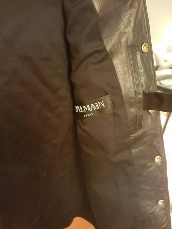 Balmain Balmain Quilted Leather Bomber Varsity Jacket Size 50 Black FW16/17 Brand New $5245 Size US M / EU 48-50 / 2 - 13
