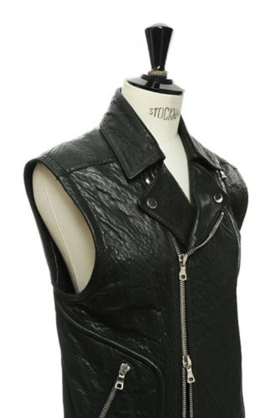 Balmain BALMAIN classic black pebble leather sleeveless biker jacket S FR46 US36 UK36 Size US S / EU 44-46 / 1 - 5